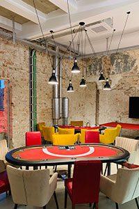 Unser mobiles Casino in modernem Büro