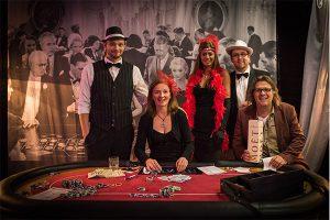 Das Partyking Team am Roulette Tisch