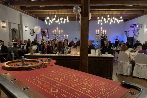 Silvesterparty mit Roulettetisch, dem Klassiker beim mobilen Casino.