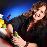 Anja Kühne an unserer mobilen Cocktailbar